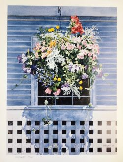 Hanging Flower Basket by William C. Wright