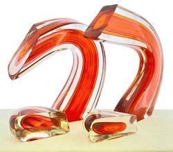 Red/Orange Combination Pair by Harvey Littleton