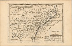 Map of Colonial Southeastern United States -   by Moll Herman