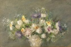 Summer Flowers in a Porcelain Vase by Hobson Pittman (1899-1972)