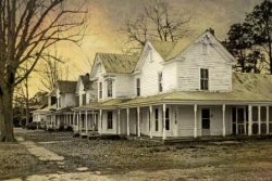 Houses on Railroad Street Robersonville by Watson  Brown