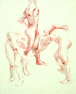 Three Male Figures by Claude  Howell