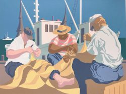Mending Net Series: Sunny Days by Howell, Claude (1915-1997)