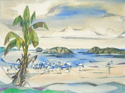 Herons and Mangrove by Claude  Howell