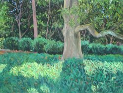 Reynolda Panorama from the Lake Porch, Panel I by Elsie Dinsmore Popkin