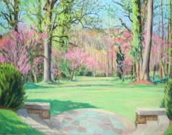 Reynolda Panorama from the Lake Porch, Panel III by Elsie Dinsmore Popkin
