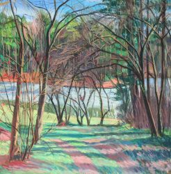 The Pond at SECCA by Elsie Dinsmore Popkin