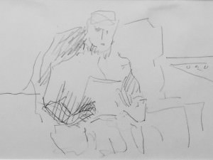 Seated Figure From the Europe Notebook by Hobson  Pittman