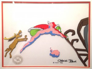 Grinch and Max grabbing the Sleigh by Chuck Jones