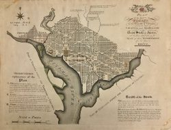 Plan of the City of Washington D.C. by James Thackara & John Vallance