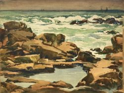 Tidal Pool on a Gray Day by Harry DeMaine (1880-1952)