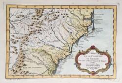 Carte De La Caroline et Georgie by Jacques-Nicolas Bellin