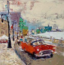 La Vida Cuba - Red Car by Ana Guzman