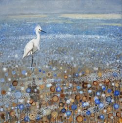 Egret in Blue by Lee Mims