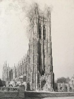 Duke Chapel by Louis Orr (1879-1961)