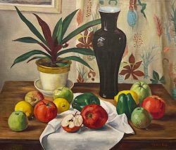 Still Life on Table Top by Mabel Pugh