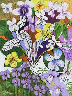 Violets by Trena McNabb