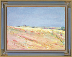 Wheat Fields in the Ile de France by Wladimir de (Wlodzimierz)  Terlikowski