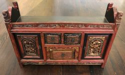 Antique Mongolian Cabinet by Chinese Craftsman