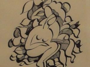 Nude Female Among Leaves by James Augustus McLean