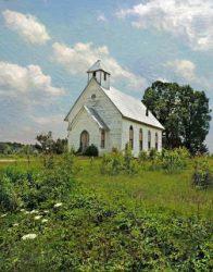 Oakey Grove Church in Summer by Watson  Brown