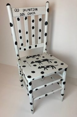 Old Dalmatian Dog Chair by Charles Keeton