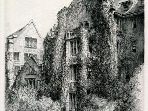 Claflin Hall by Louis Orr