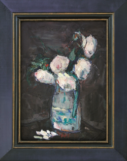 Pitcher with Peonies by Wladimir de (Wlodzimierz)  Terlikowski