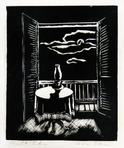 Moonlit Interior by Pittman, Hobson (1929-1972)