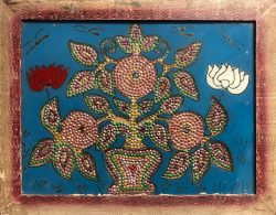 Pomegranate Flowers by Folk Artist (India)