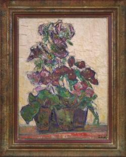 Potted Begonia by Wladimir de (Wlodzimierz)  Terlikowski