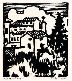 Houses, Italy by Pugh, Mabel (1891-1986)