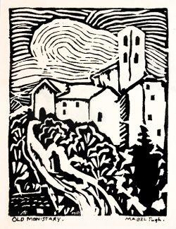 Old Monistary by Pugh, Mabel (1891-1986)