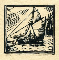 Sloop by Mabel Pugh (1891- 1986)