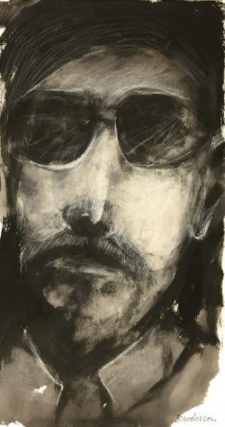 Portrait of Man in Sunglasses by Robert Broderson(1920-1992)