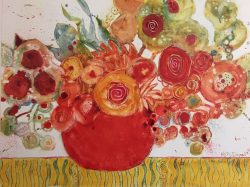 Red Hot Chili Posies by Kathy  Daywalt