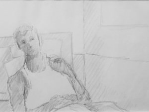 Resting Figure From the London Notebook by Hobson  Pittman