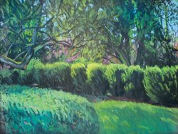 Reynolda Panorama from the Lake Porch, Panel II by Elsie Dinsmore Popkin