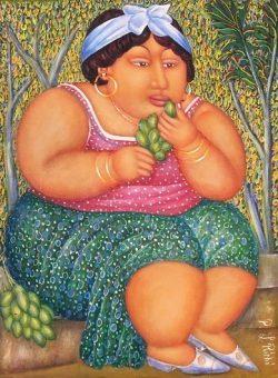 La Dame et les Fruits by Pierre Louis Riche (1954-)