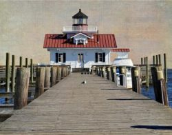 Roanoke Marshes Lighthouse by Watson  Brown