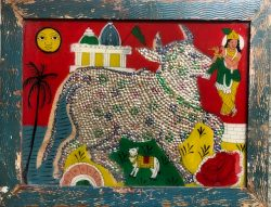 Sacred Cow by Folk Artist (India)