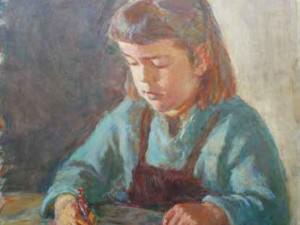 Elisabeth with Crayon by Sarah Blakeslee