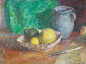 Grapefruit and GrayJug by Sarah Blakeslee
