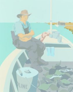 Seated Fisherman by Claude Howell (1915-1997)