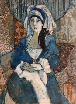 Shadiyah in Blue by Kathy  Daywalt