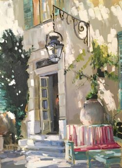 Patio Scene by Laura Lacambra Shubert