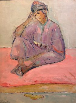 Figure Marocain Assise by Wladimir de Terlikowski