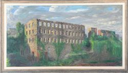 Burnt Out Old Stone Mill by Francis  Speight