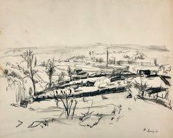 Mills Garden Preliminary Sketch by Francis Speight (1896-1989)