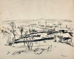 Mills Garden Preliminary Sketch by Francis  Speight